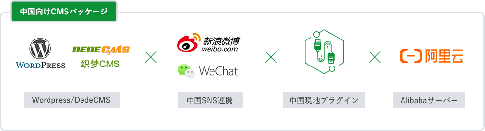 中国向けCMSパッケージ